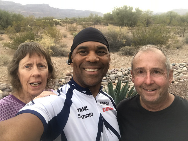 William Betty and Robb in Gold Canyon AZ