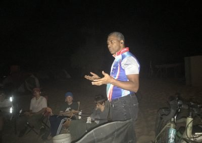 speaking to the boy scouts